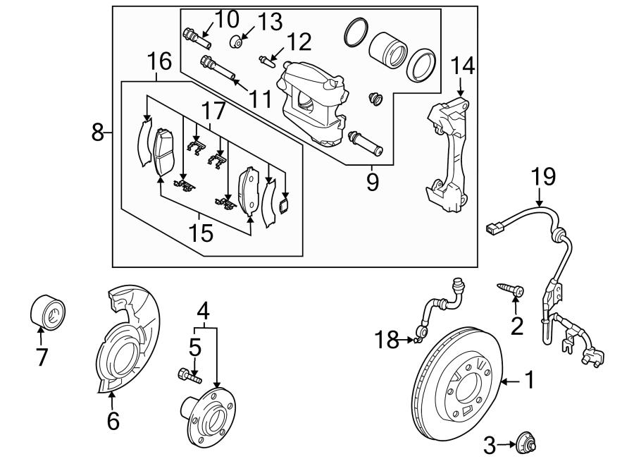 Mazda CX-9 Caliper. Disc Brake Caliper. Front Left. Kit