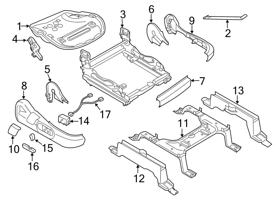 Mazda CX-9 Seat Track Support. PASSENGER SEAT, POWER SEAT