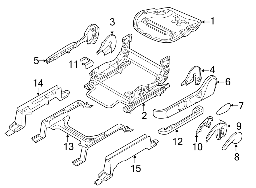 Mazda CX-9 Seat Adjuster (Left, Front). DRIVER SEAT