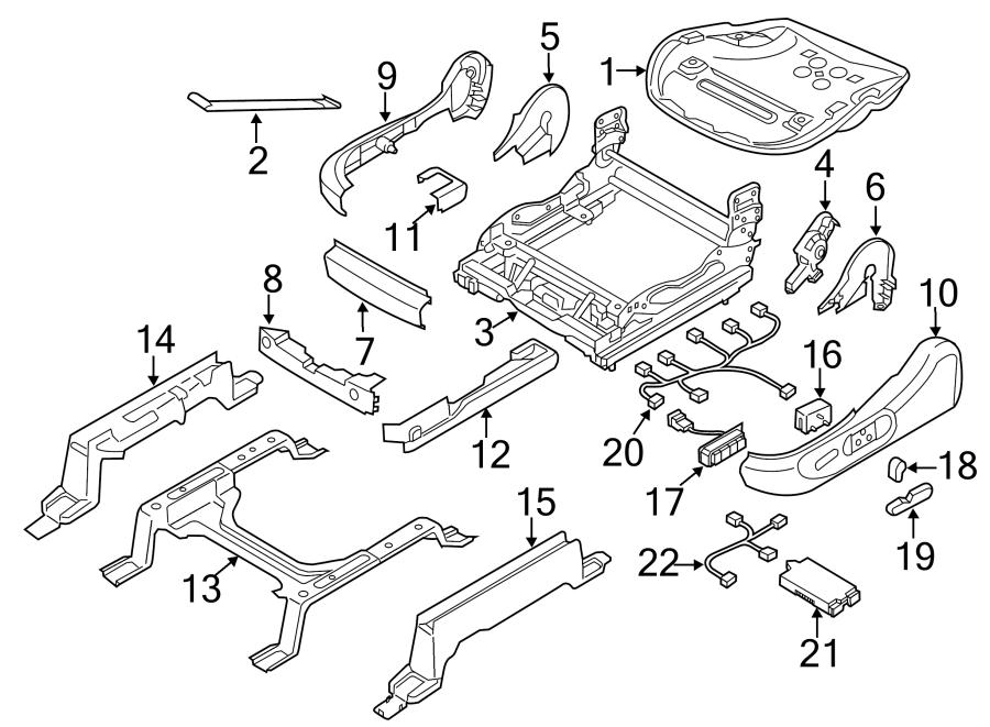 Mazda CX-9 Seat Track Support. DRIVER SEAT, MANUAL. DRIVER