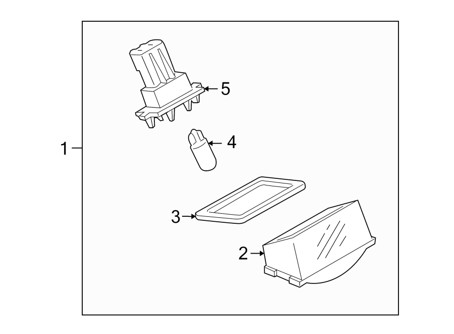 Mazda CX-9 License Plate Light Lens. Rear, LAMPS, Lamp