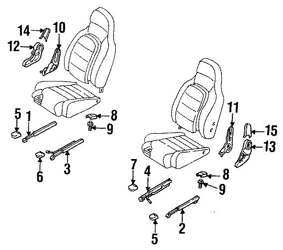 Mazda MIATA Cover Bolt. (Rear). SEATS, TRACKS, TRACK