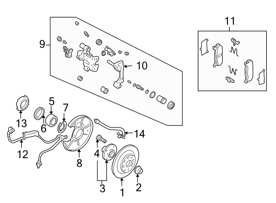Mazda MIATA Wheel Seal (Front). SUSPENSION, COMPONENTS