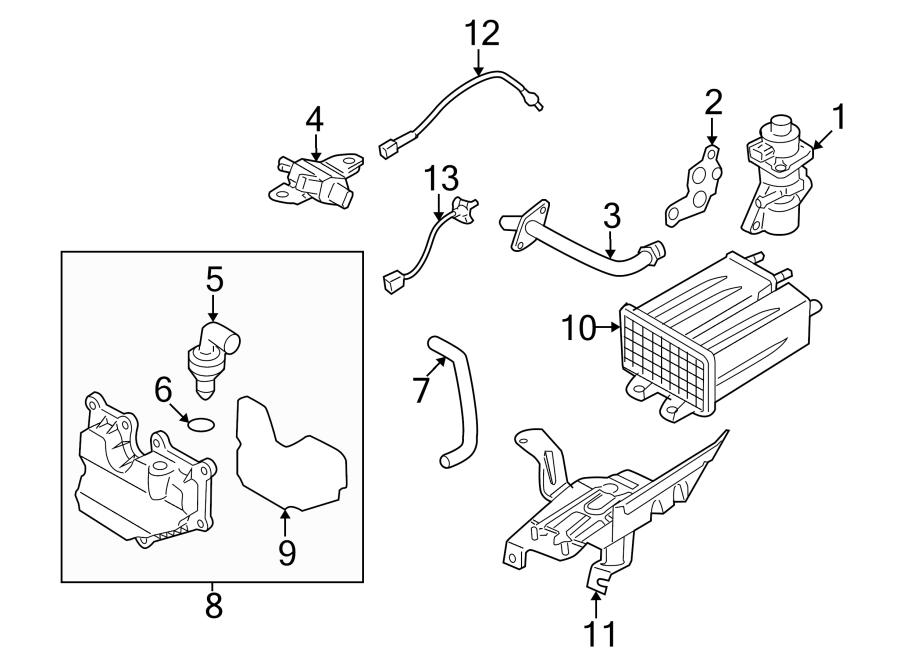 Mazda MX-5 Miata Egr valve (right). Emission, components