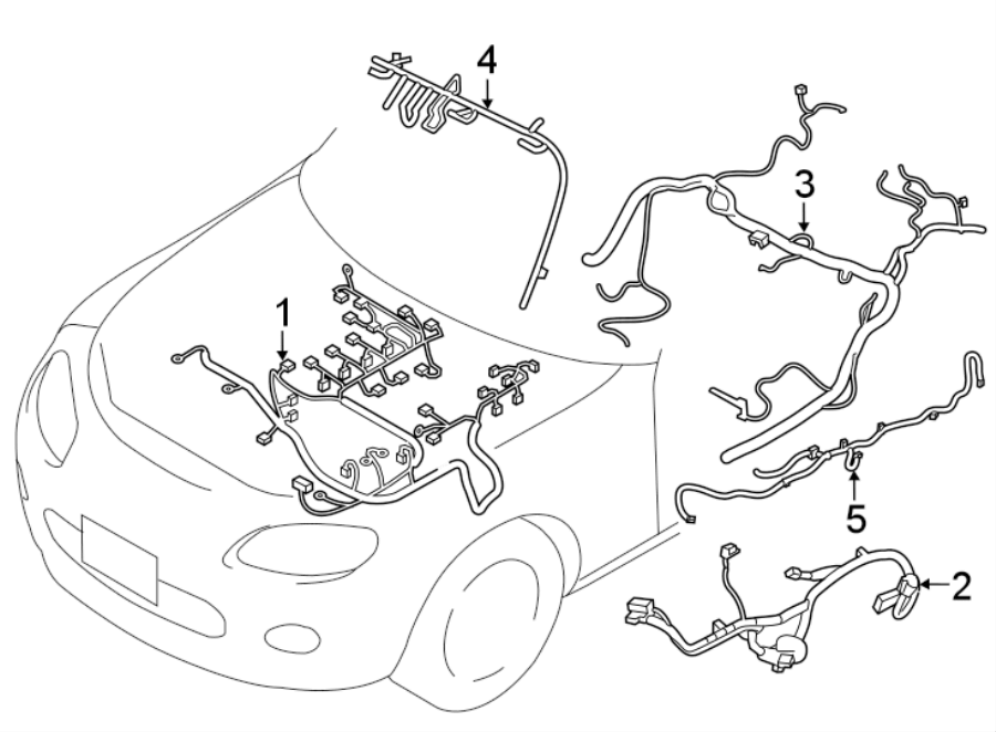 Mazda MX-5 Miata Tail Light Harness (Rear). Rear bumper, w