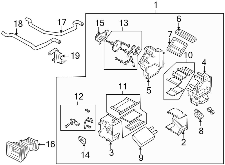 Mazda 626 Actuator. HVAC Heater Blend Door Actuator