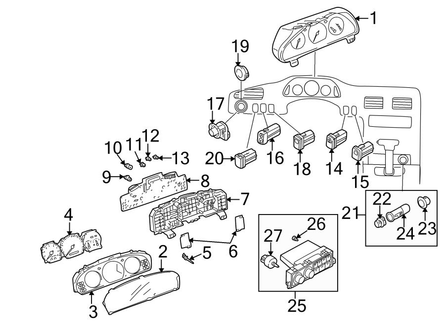 Mazda 626 Instrument Cluster Bezel. Instrument Cluster