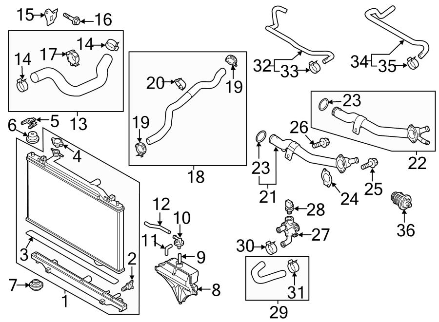 2015 Mazda Radiator Coolant Hose. 2.0 LITER. 2.5 LITER. CX