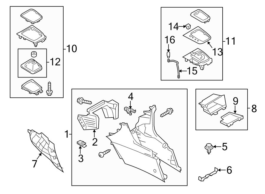 2015 Mazda Console Compartment. Box, FRONT, Storage