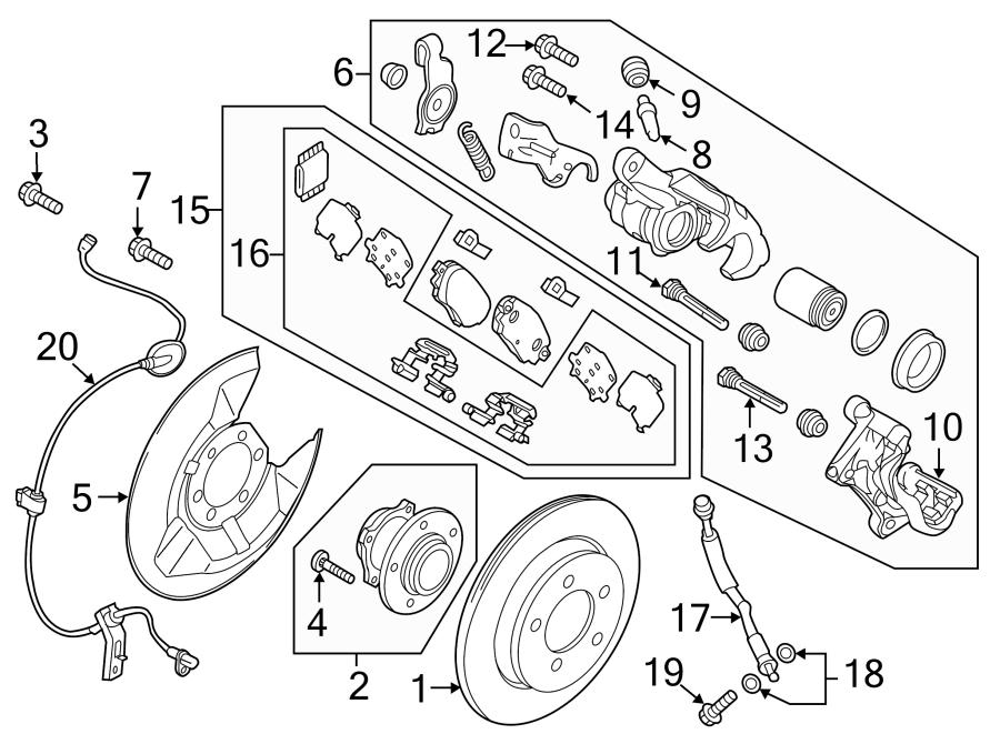 Mazda 6 Disc Brake Pad Set (Rear). Pads, SUSPENSION