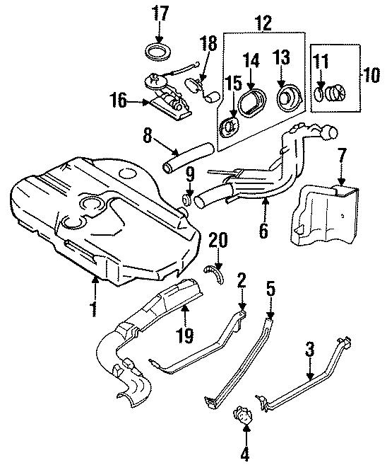 Mazda MX-6 Fuel. Tank. Strap. /NLA. Mount. Center