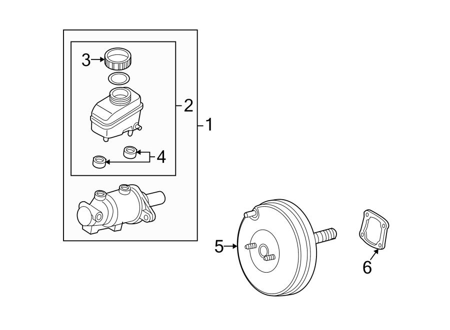 Mazda RX-8 Brake Master Cylinder. Trans, Stability, Cntrl