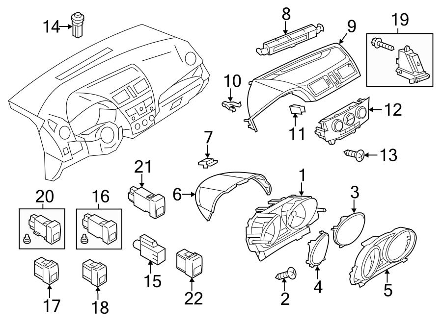Mazda 5 Sun Load Temperature Sensor. CLUSTER, INSTRUMENT