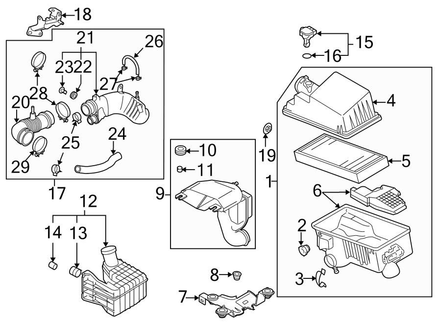 Mazda CX-7 Engine Air Intake Hose. 2.3 LITER. TRANSAXLE