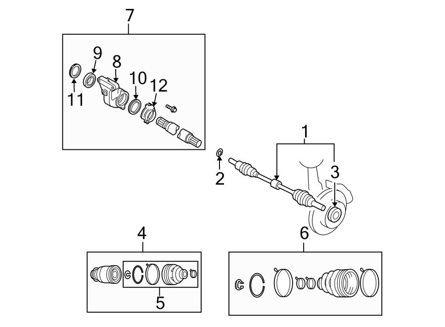 Mazda CX-7 Cv axle assembly (right). Left, drive, axles