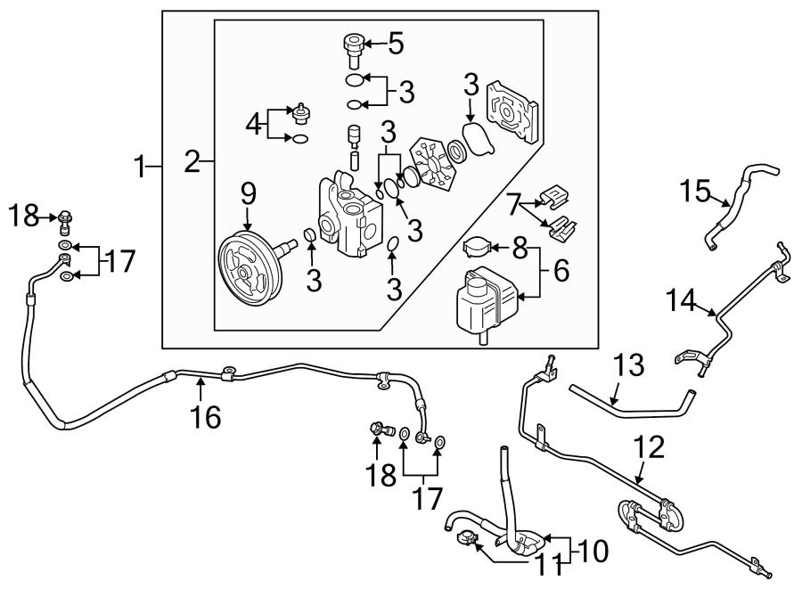 2008 Mazda CX-7 Power Steering Pump. LITER, Gear