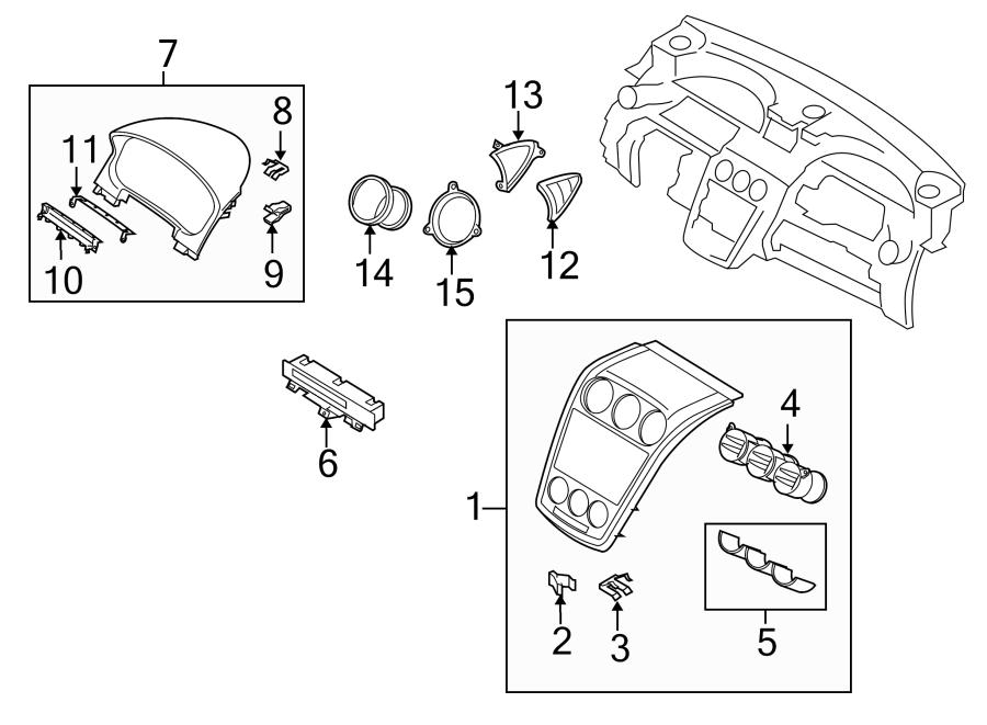 Mazda CX-7 Display unit. DISPLAY, INFORMATION. DISPLAY