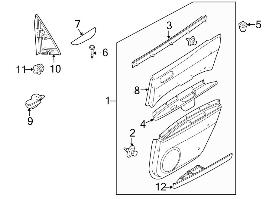 Mazda CX-7 Door Interior Trim Panel (Rear). W/4 speaker