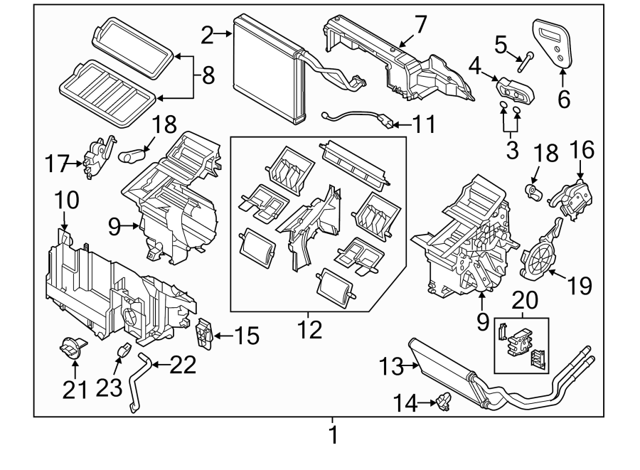 Mazda CX-5 Hvac blower motor resistor. Heater, auto, air