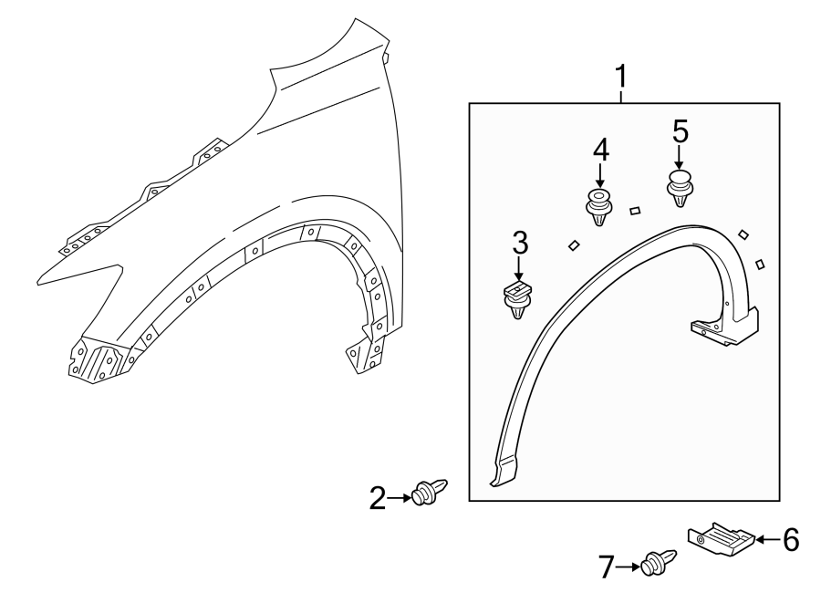 2015 Mazda CX-5 Wheel Arch Molding (Front). RIGHT, FENDER