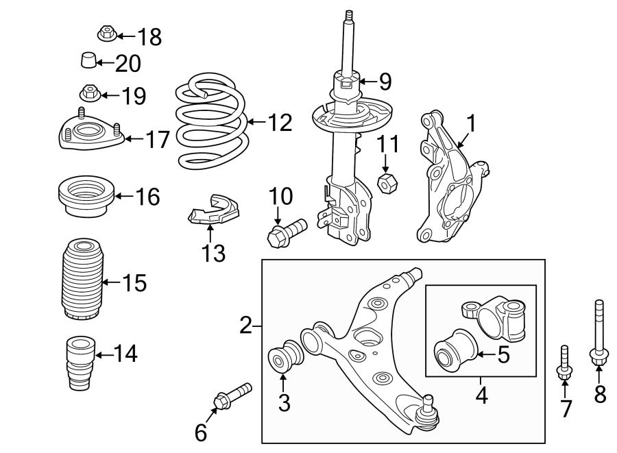 2014 Mazda Suspension Strut (Front). LEFT, Make, Liter