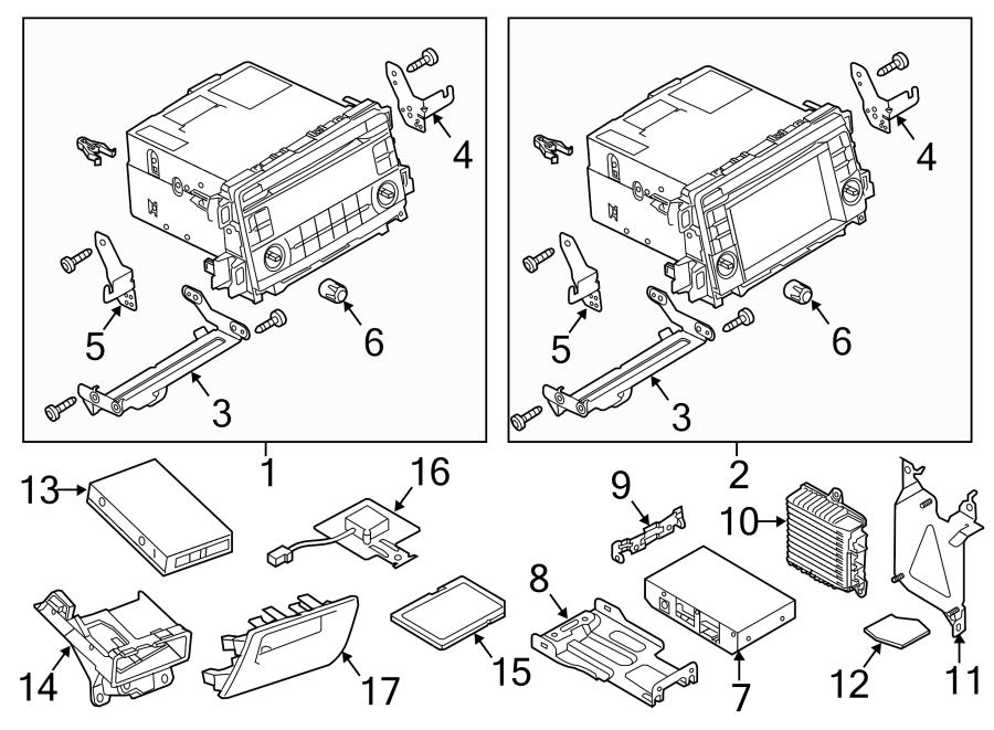 Mazda CX-5 Control unit. Gps navigation control module