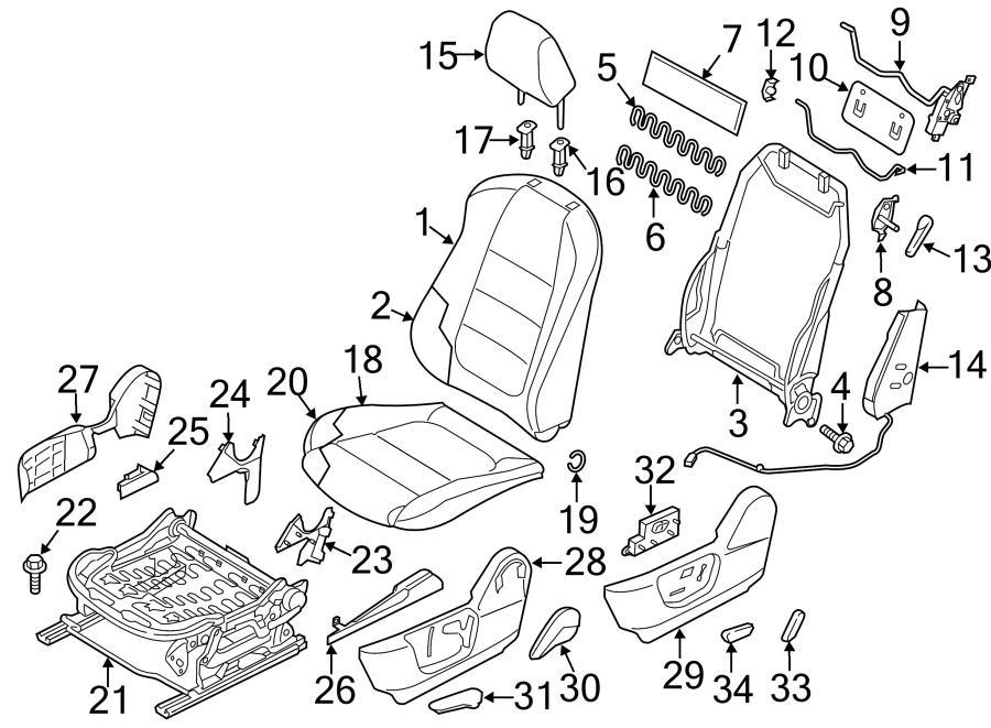 2015 Mazda Seat Back Frame Bolt. Seat Back Frame Screw