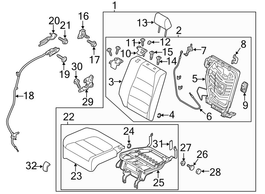 Mazda CX-5 Cable. (R). REMOTE. Release. LEVER. 40/20/40