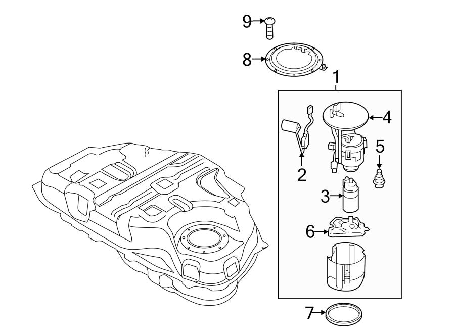 Mazda CX-5 Filter. Fuel. Location-Tank. W/O AWD. Pump