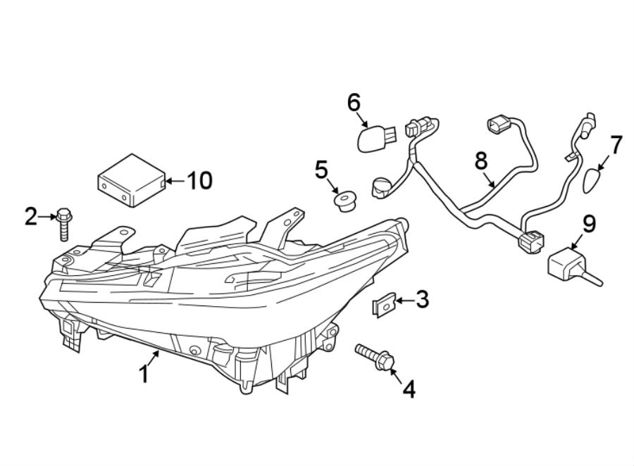 Mazda CX-5 Headlight Wiring Harness. W/directional beam