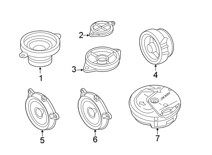 Mazda CX-5 Speaker (Rear). Audio, SPEAKERS, SOUND