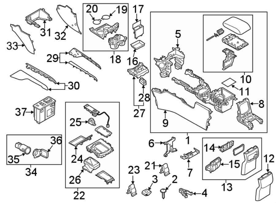 Mazda CX-5 Automatic Transmission Shift Cover Plate