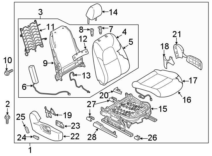 Mazda CX-5 Seat. ADJUSTER. UNIT. W/POWER, 2017-18