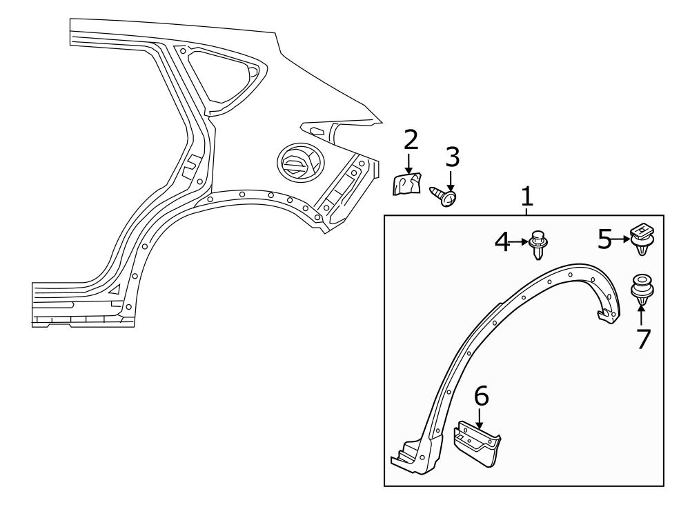 Mazda CX-5 Liftgate Finish Panel Clip. Spoiler Clip. Wheel