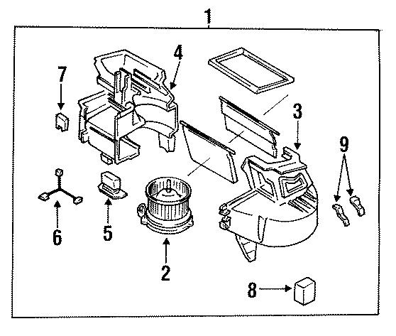 1993 Mazda RX-7 Hvac blower motor resistor. Air