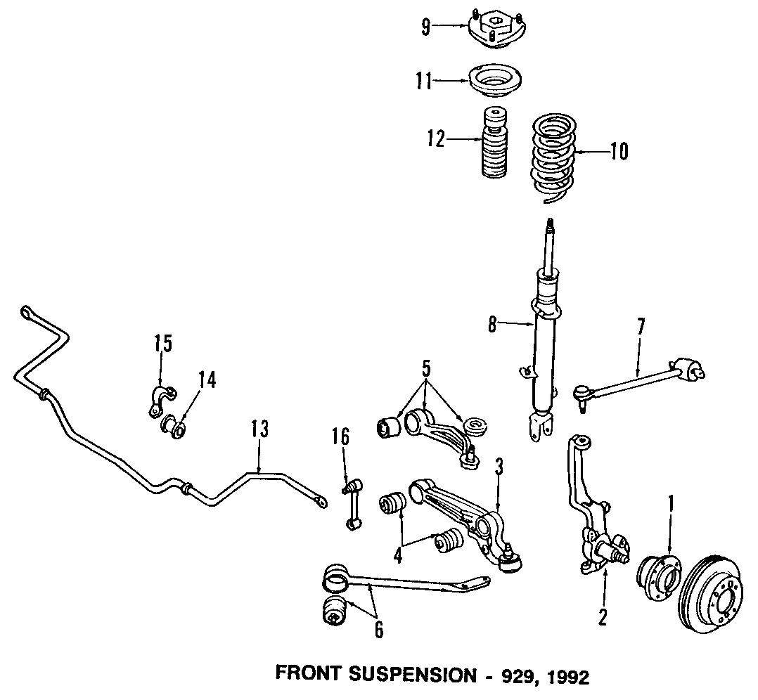 Mazda 929 Suspension Control Arm Left Upper