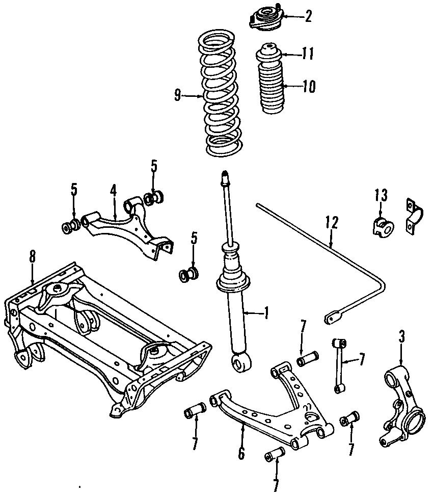 Mazda MIATA BushingS. Stabilizer bar Bushing. (Rear