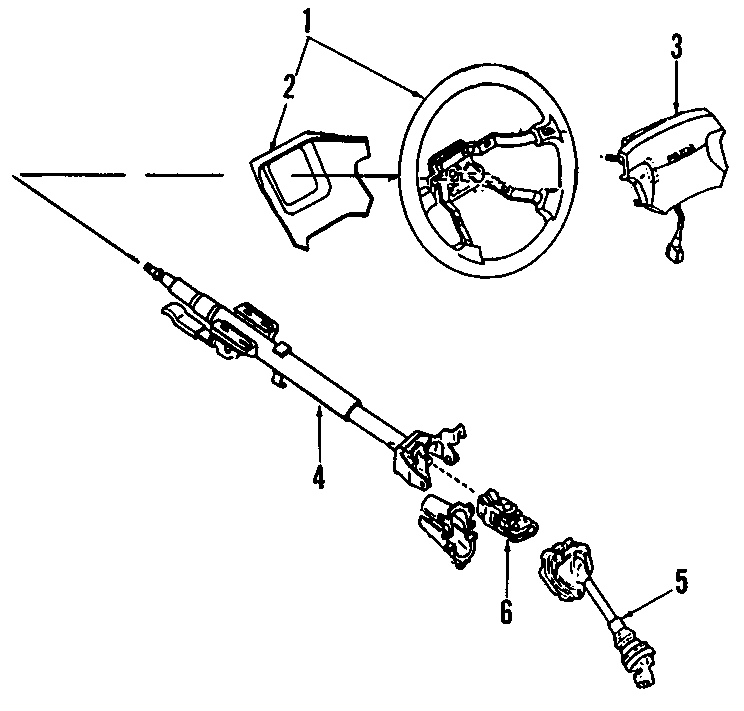 1992 Mazda MIATA Module. Driver. Inflator. Air bag. 1990