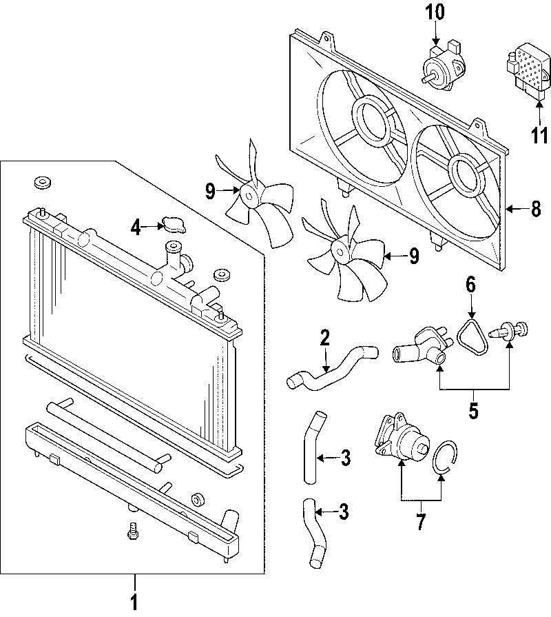 2010 Mazda CX-7 Control. Fan. Module. UNIT. C/UNIT