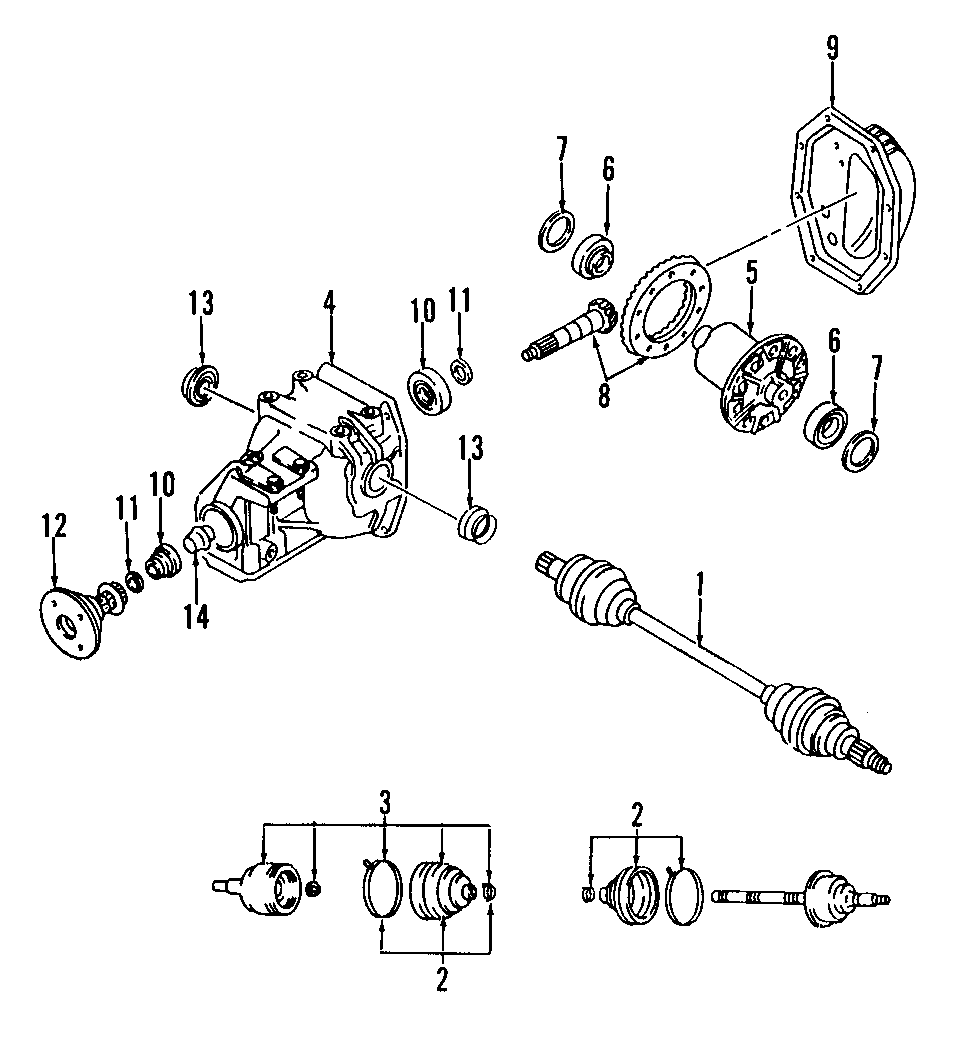 Mazda MX-5 Miata Differential Pinion Bearing (Rear). B2000