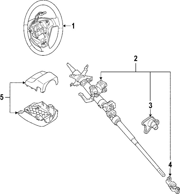 Mazda RX-8 Steering Shaft Universal Joint (Lower). Miata