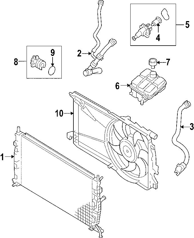 Mazda 3 Engine Coolant Thermostat Kit. RADIATOR, COOLING