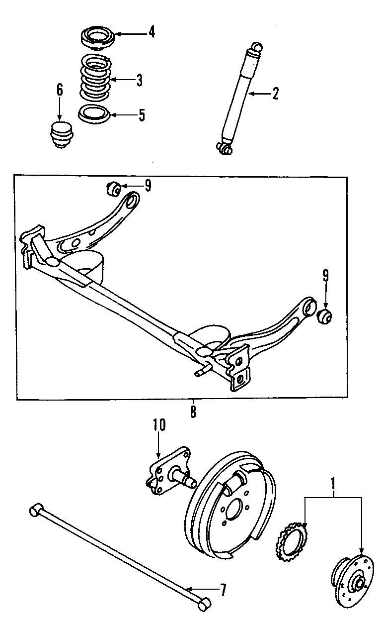 2002 Mazda MPV Suspension Subframe (Rear). 2 wheel disc