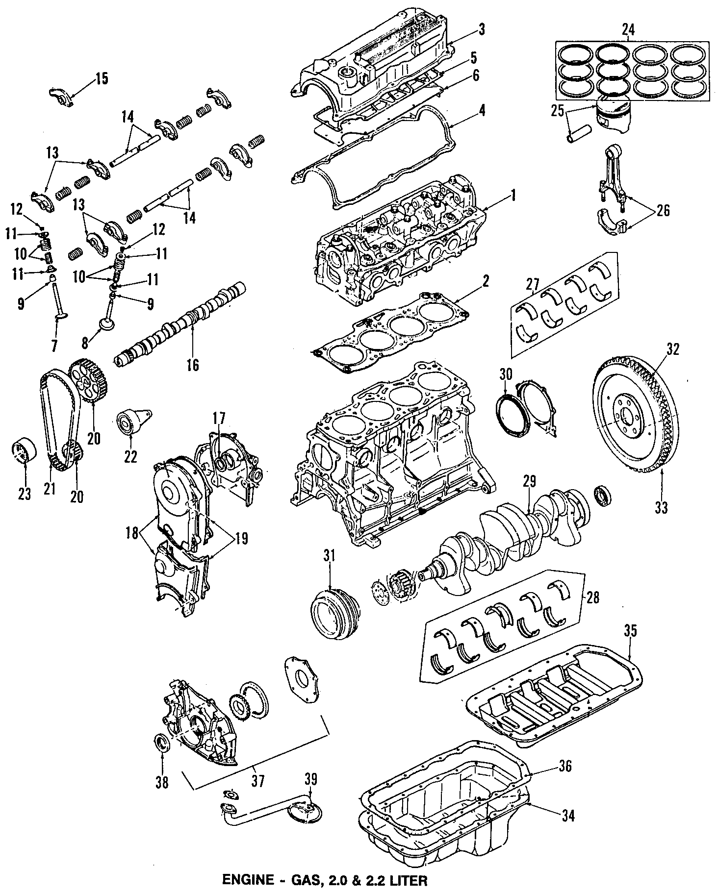 1989 Mazda B2200 Engine Timing Crankshaft Sprocket. 626