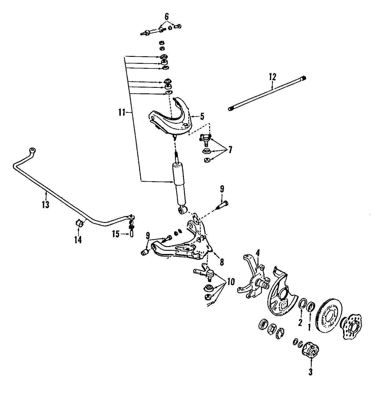 Mazda B Suspension Control Arm Lower