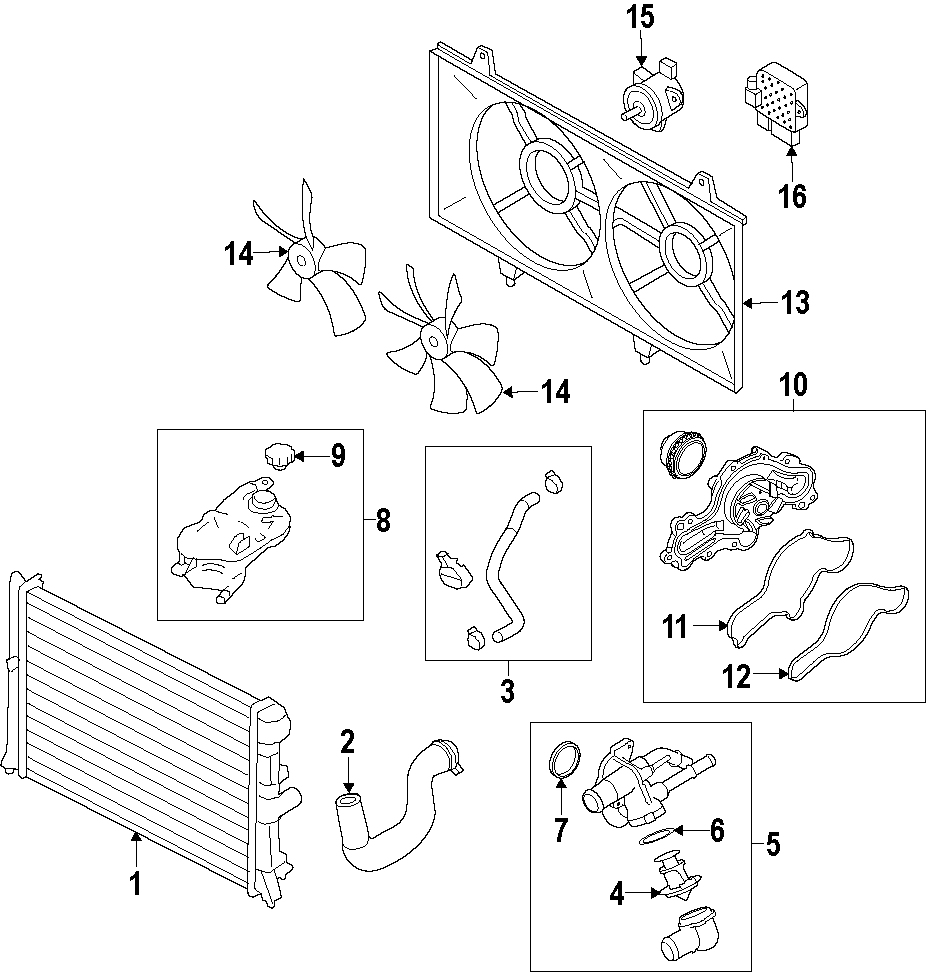 Mazda 6 Engine Cooling Fan Controller. LITER, Module, PUMP