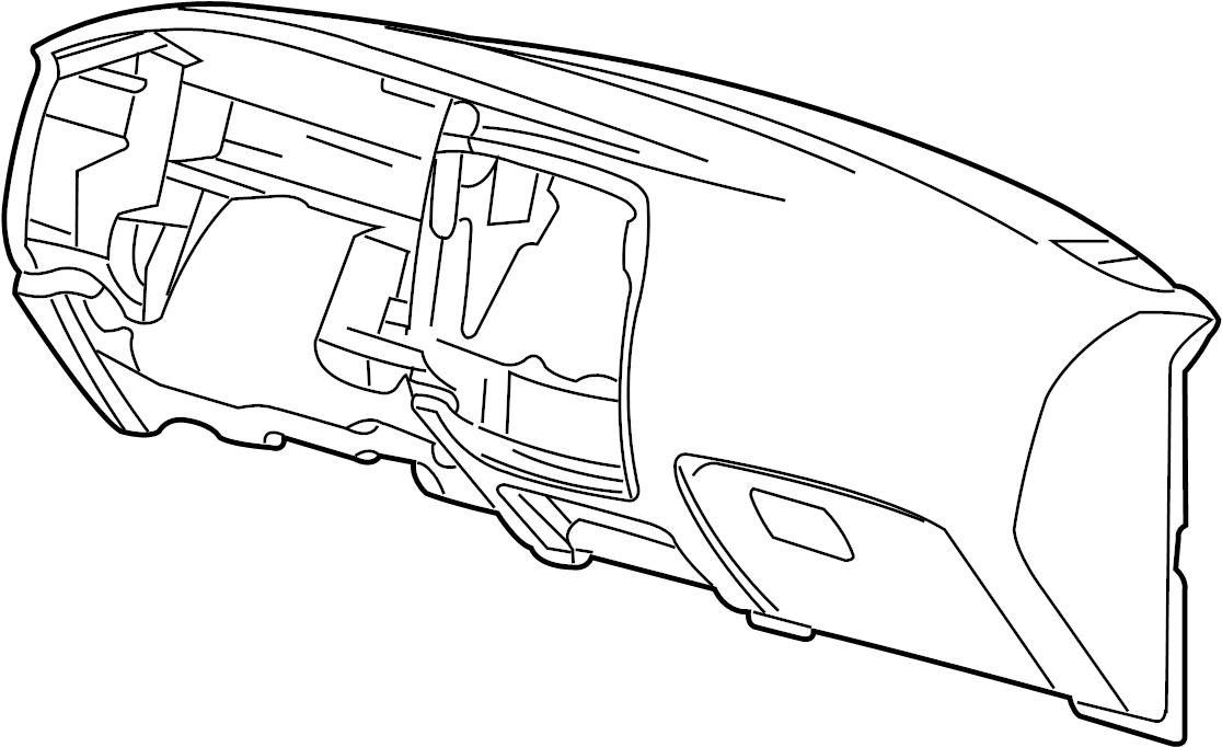 1998 Mazda Dashboard Panel. Instrument panel. PAD, CRUSH