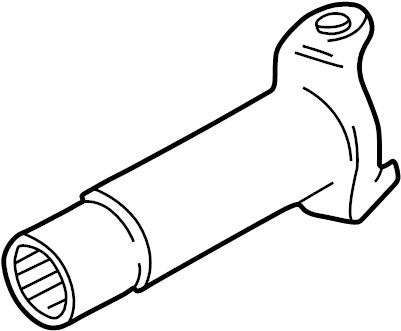Mazda B2300 Drive Shaft Slip Yoke. CAB, Manual, Trans