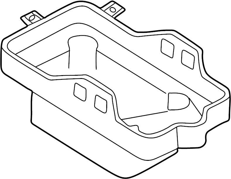 Mazda Tribute Battery tray. Carrier, battery. 3.0 liter