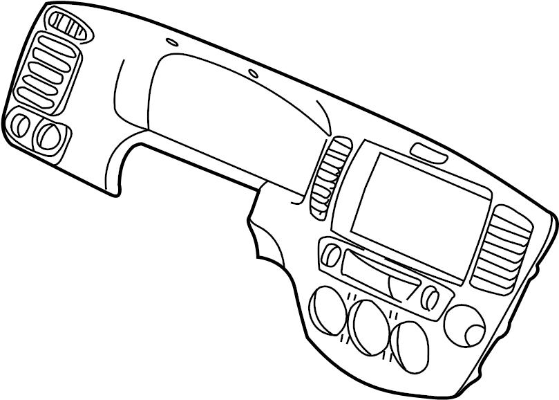 2003 Mazda Tribute Cluster trim. Instrument Cluster Bezel